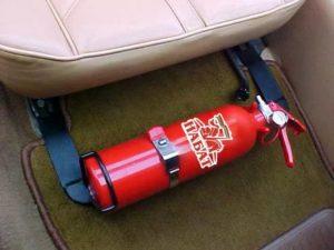 Огнетушитель под сиденьем