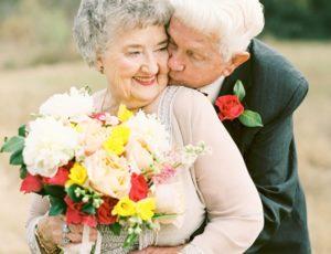 Пожилые брачующиеся